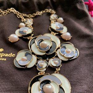 Kate Spade Deco Rose Blossom Necklace NWT
